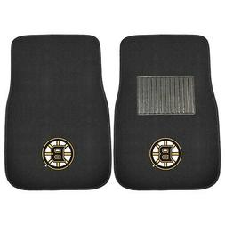 Fanmats 17088 NHL Boston Bruins 2-Piece Embroidered Car Mat