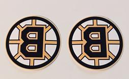 2x Boston Bruins Car Bumper Laptop Wall Vinyl Die Cut Sticke