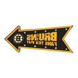 Boston Bruins Arrow Marquee Sign - Light Up - Room Bar Decor