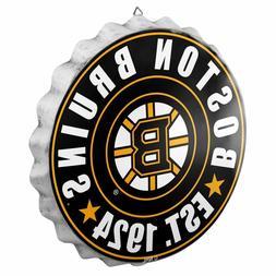 Boston Bruins Bottle Cap Sign - Est 1924 - Room Bar Decor NE