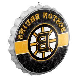 Boston Bruins Bottle Cap Wall Sign - Distressed - Room Bar D