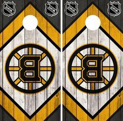 Boston Bruins Cornhole Wrap NHL Game Board Skin Set Vinyl De