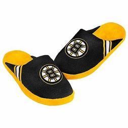 Boston Bruins Jersey Mesh SLIDE SLIPPERS New - FREE SHIPPING