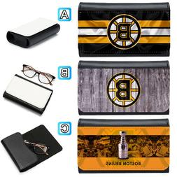 Boston Bruins Leather Eye Glasses Case Sunglasses Box Protec