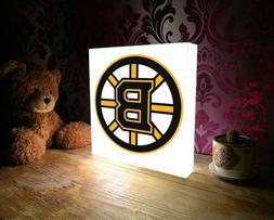 Boston Bruins led sign, lighted logo gift, desk lamp, fan ni