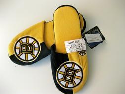 BOSTON BRUINS NHL 2 COLOR SLIDER SLIPPERS XL  FOREVER COLLEC