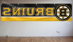 Boston Bruins NHL Banner Flag 2X8Ft Hockey Flag Decor House