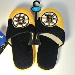Boston Bruins NHL Boy's Slide Slippers - Youth XL  - Black &