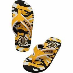 Boston Bruins NHL Camo Flip Flops Sandals/Slippers/Flip Flop