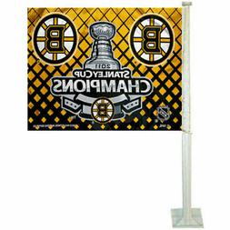 Boston Bruins NHL Champs Car Flag and Window Flag