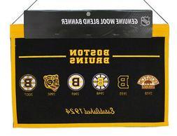 Boston Bruins NHL Wool Hanging 22x14 Heritage Banner