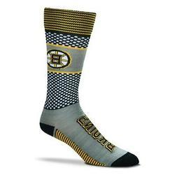 Boston Bruins For Bare Feet Women's Mojo Crew Socks