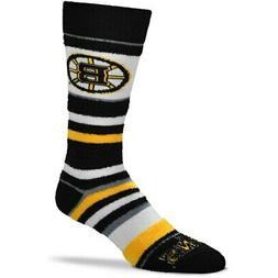 Boston Bruins For Bare Feet Women's Soft Stripe Quarter-Leng