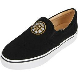 Boston Bruins Cuce Women's Suede Slip On Shoe - Black