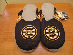 New With Tag Boston Bruins Jersey Mesh Slide Slippers Mens S