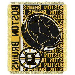 NHL Boston Bruins Double Play Jacquard Triple Woven Throw, 4