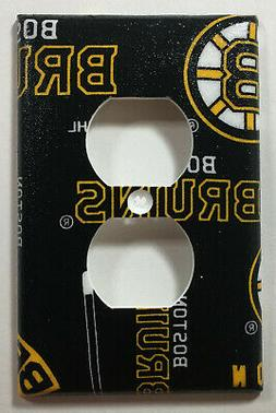 NHL Boston Bruins Hockey Team Print Outlet Plate Cover Wall