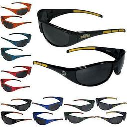 NHL Hockey Mens 3 Dot Sports Wrap Sunglasses - Team Logo - P